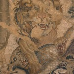 Leone e leopardo, casa delle colombe a mosaico, pompei