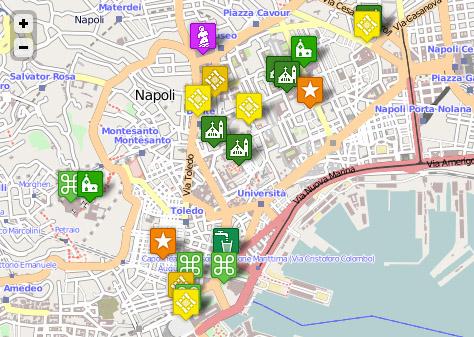 plan touristique de naples