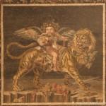 dionisio fanciullo su tigre, casa del fauno, pompei