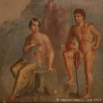 io e argos, tablinum, casa di meleagro, Pompei, museo archeologico di napoli