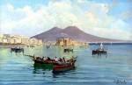 Salvatore Petruolo, bateaux de peche dans la baie de naples