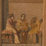 scena di commedia, villa di cicerone, pompei