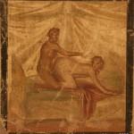Erotic scene, lupanare, Pompeii