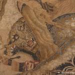 Lion et léopard, maison des mosaïques de colombes, Pompéi