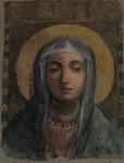 Dipinte di Maria, antico battistero, duomo di Napoli