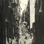 Carlo Brogi, Vicolo del Pallonetto a Ssanta-Lucia. Foto antica di Napoli.