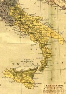 Carte du Royaume des Deux-Siciles