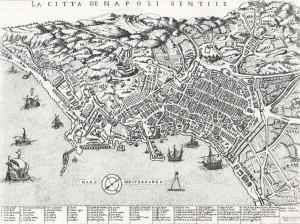 Duchetti 1585, ristampa di Orlandi 1602 - citta di napoli