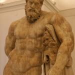 Ercole in riposo (c. 200 dc), museo archeologico di napoli