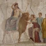 Europe assise sur le taureau, maison de Jason, Pompéi, musée archéologique de Naples