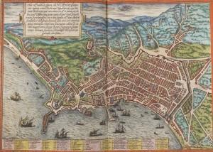 Georg Braun, Mappa di Napoli nel 1570