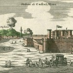 Homann, castel nuovo, Napoli, 1734