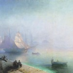 Ivan Aivazovsky, Bay of Naples on misty morning, 1874