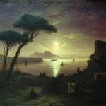 Ivan Aivazovsky, The bay of Naples at moonlight