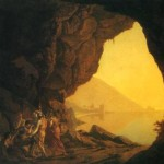Joseph Wright, grotto in the kingdom of naples with banditti, 1778