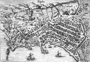 Mappa di napoli del 1615