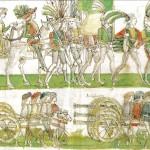 Melchionne, troupes françaises entrant à Naples en 1495, 1498