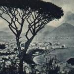 Foto antica di Napoli dalla tomba di Virgilio