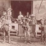foto antica di napoli, maccharoniao napoletano