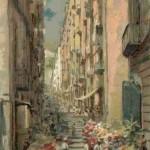 Napoli, mercato dei fiori di chiaia, 1905