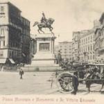 Foto antica di Napoli, Piazza vittorio emanuele