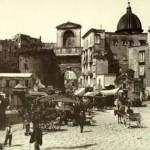 Foto antica di napoli, porta capuana
