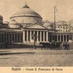 Foto antica di Napoli, san francesco di paola