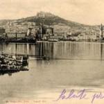 Foto antica di Napoli, veduta dal mare