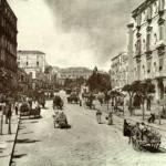 Foto antica di Napoli, via Foria