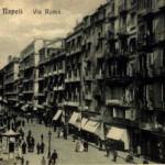 Foto antica di Napoli, via Roma