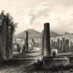 Pompei, forum, milieu XIXe