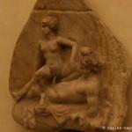 Rilievo, scena erotica, caupona, pompei, museo archeologico di napoli