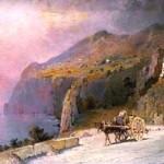 Salvatore Petruolo, route de la cote amalfitaine