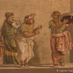 Scène de comédie, villa de Cicéron, Pompéi
