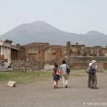 Vue sur la Vésuve depuis le Forum romain