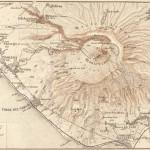 Carte historique du Vésuve en 1888