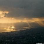 Vue sur la baie de Naples depuis les pentes du Vésuve