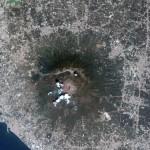 Vésuve vu par satellite