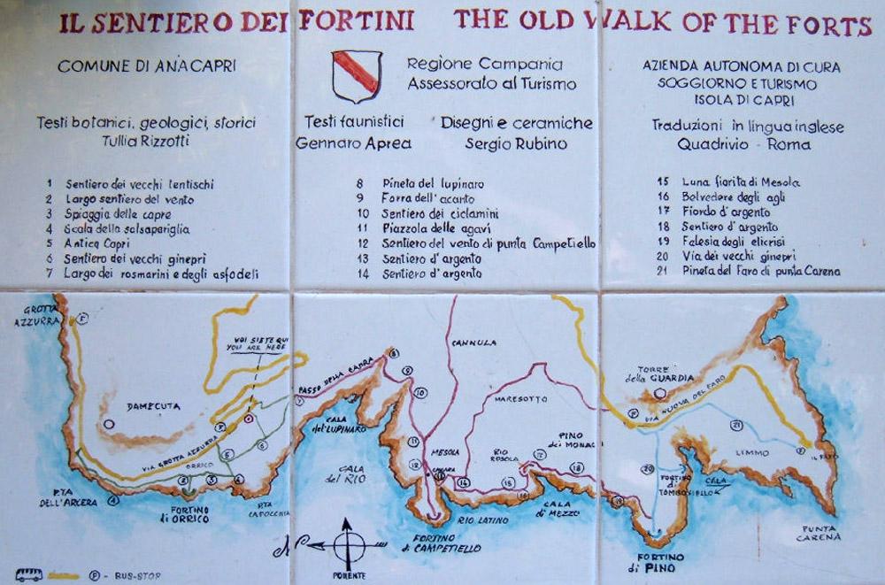 cartina sentiero dei fortini